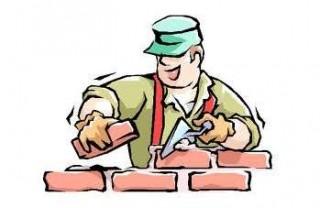 Maçon, charpentier et couvreur