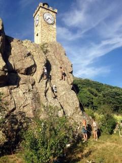 Le mur d'escalade de Burzet